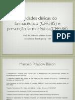 Palestra prescrição e atividades clínicas
