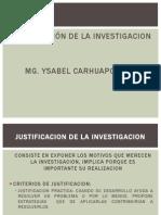 CLASE N° 04 JUSTIFICACION, LIMITACIONES Y VIABILIDAD DEL ESTUDIO