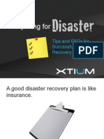 Xtium Guide for Successful Disaster Recovery Testing