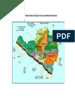 Mapeo de La Produccion de Arequipa en Sus Diferentes Provincias