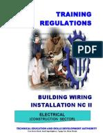 TR Building Wiring Installation NC II