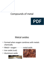 Compounds of Metal
