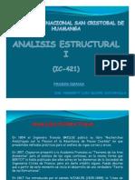 Primera clase Análisis Estructural I