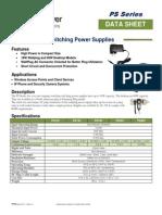 TP-PS Power Supply Spec Sheet