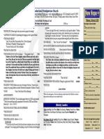 February 9, 2014 Worship Bulletin