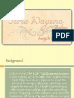 Suria Wayuna Boutique Presentation