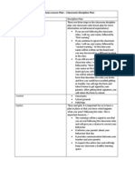 procedures lesson plan - classroom discipline plan