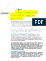 Hot Topics - Shareholder Engagement - A New Era in Corp Gov - Sept 2013 - Final