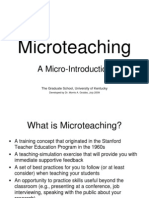 Micro Teach Introduction