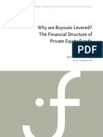 Why Are Buyouts Levered?  The Financial Structure of Private Equity Funds dated 04-January-07