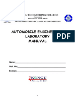 Automobile Lab Manual