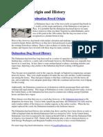 Dalmatian Origin and History