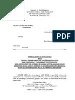 sample of pleadings