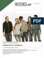 """Síndrome de los """"veintitantos"""".pdf"""