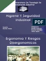 Ergonomia y Riesgos Disergonomicos