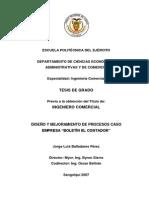 T-Diseño y Mejamiento de Procesos Ejemplo