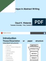 Presentasi TOT Abstract Writing