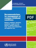 Hospital Care WHO Evidence / Buku Pedoman WHO (Ilmu Penyakit Anak) SUAIDA