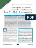 Pure Play Method of Divisional Beta (CA 2002)