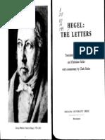 Hegel, Georg Wilhelm Butler, C and Seiler, C (Eds.) Hegel_ the Letters 1984