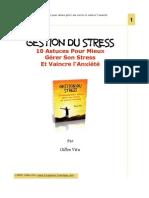 Gestion Du Stress - 10 Astuces Pour Mieux Gérer Son Stress Et Vaincre l'Anxiété