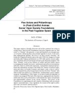 Paul Stubbs (2013) Flex Actors and Philanthropy in (Post-)Conflict Arenas