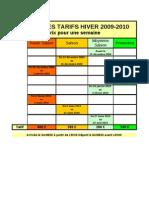 Tarif Les Angles-HIVER/ETE