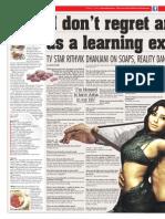 Rithvik Dhanjani Eastern Eye Interview Part 1