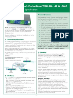 PacketBand-TDM-4D for TDM Over IP Pseudowire With Excellent Clocks G823 UK Product