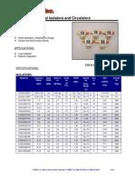 Broadband Coaxial Isolators and Circulators