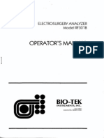 Bio-Tek RF-301B ESU Analyzer - User Manual