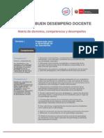 MATRIZ DE BUEN DESEMPEÑO DICENTE