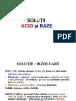 Solutii. Acizi. Baze - Curs 1