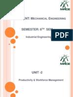 Productivity & Work Force Unit -2