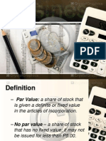 About shares and par
