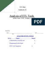 ETL Processing Tools Comparision