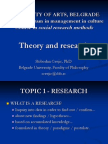 Research Methods - Theory and Research