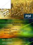 Characterization of Dairy Industry Wastewater