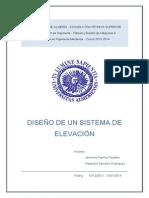 Diseño Sistema de Elevación (UAL)