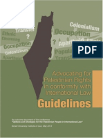 Advocating for Palestinian Rights in conformity with International Law