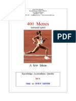 400 Metres - A Program for Developing Athletes