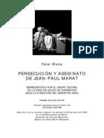 Weiss, Peter - Persecución y asesinato de Jean-Paul Marat [Marat-Sade].pdf