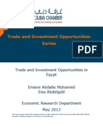 Trade and Investment Opportunities in Egypt2013
