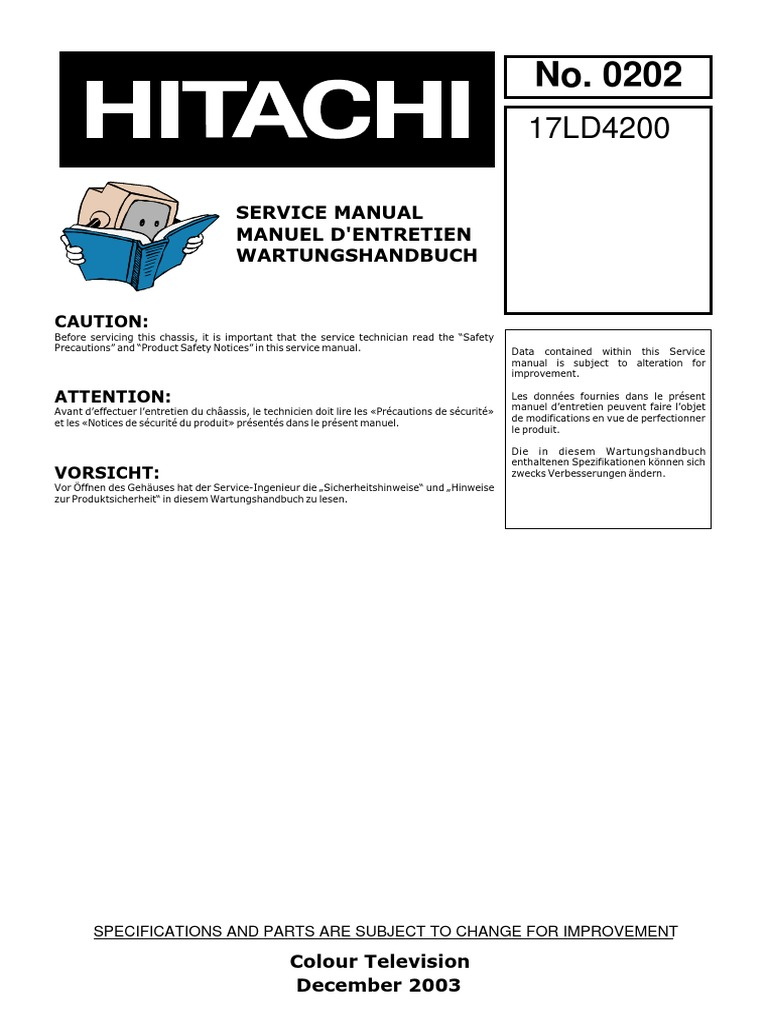 Service manual hitachi display resolution amplifier fandeluxe Images