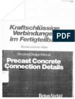 Precast Concrete Connection Details (Structural Design Manual)