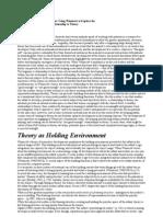 Theory as Maternal Environment