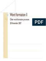 Word Formation II