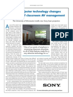 New projector technology changes paradigm of classroom AV management.