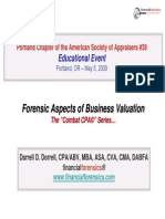 Forensic Aspects of Business Valuation