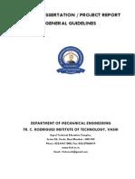 Project Report Format Frcrit vashi Mechanical